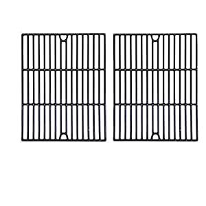 Porcelain Cast Iron Cooking Grid for Nexgrill 720-0670, 720-0670A, 720-0670C, 720-0341, 720-0549, Uberhaus 780-0003 and UniflamecGBC091W, GBC940WIR, GBC956W1NG-C, GBC981W, GBC981W-C, GBC983W-C Gas Grill Models, Set of 2