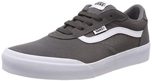 Vans Boys' Palomar Trainers, Grey ((Suede/Canvas) Pewter/White Q35), 3 (35 EU)