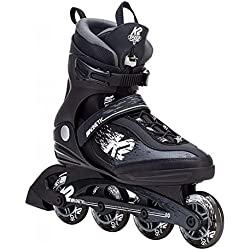 K2 Skate Men's Kinetic 80 Pro Inline Skate, Black White, 9