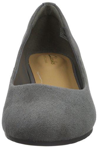 Clarks Vendra Bloom , Damen Plateau-Schuhe Grau (Grey Suede)