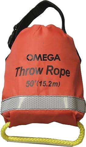 Rescue Throw Rope, Polypropylene - 50' Orange - Rescue Throw Line