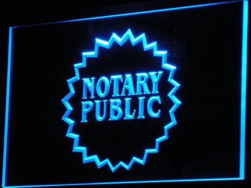 PEMA Neon Sign i169-b Notary Public Neon Light sign