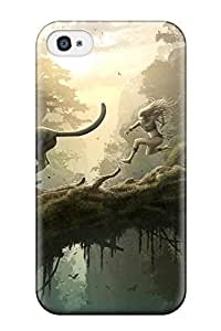 Iphone 4/4s Hard Back With Bumper Silicone Gel Tpu Case Cover Dinosaur