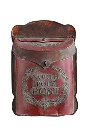 "Creative Co-op XC7194 15.5"" H Tin North Pole Post Box"