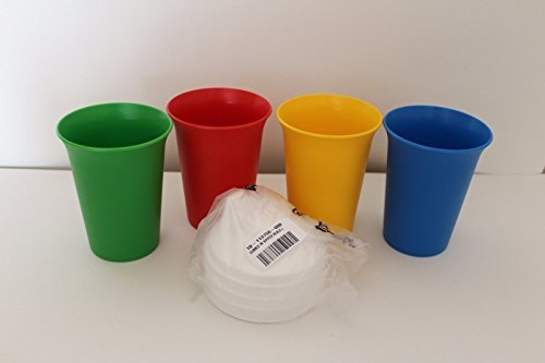 Tupperware Bell Tumblers with Domed Sipper Seals in Green, Red,