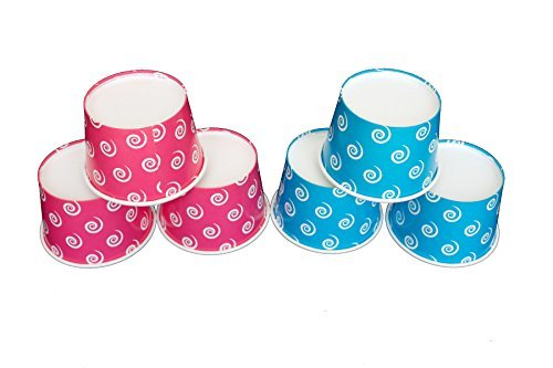 pink and blue ice cream cups - 2