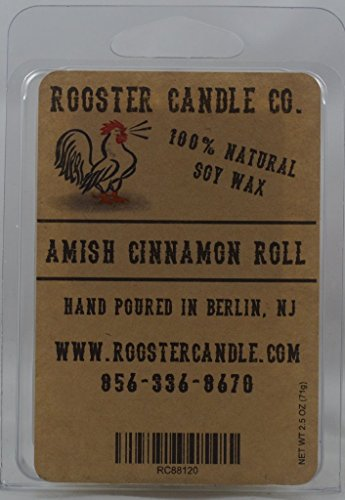 Rooster Candle Co. 100% Soy Melts, Amish Cinnamon Roll, 2.5 ounce (Amish Rooster)