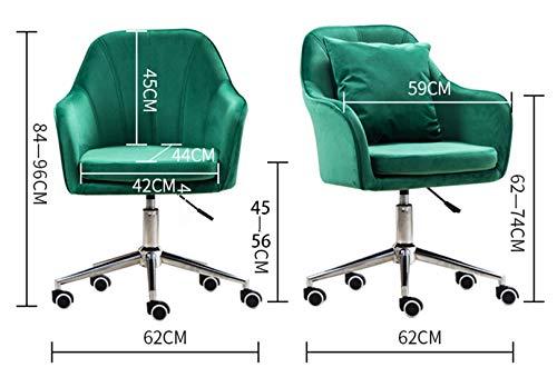 LYJBD skrivbordsstol, svängbar kontorsstol, tjock kudde dyna flexibel, rullande svängbar justerbar mellanrygg uppgift stol