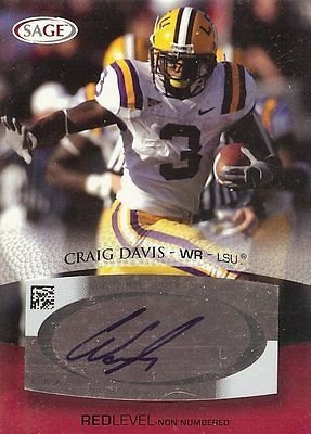 e Autograph Rookie Card #A14 LSU ()