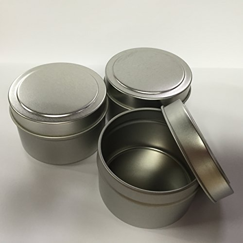 Candlewic Medium Candle Tin (6 Oz.), 12 Pieces with Lids