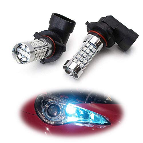 Honda Civic Hid Headlights - iJDMTOY (2) 10000K Ice Blue 69-SMD 9005 9145 H10 LED Bulbs For High Beam Daytime Running Lights or Fog Light Replacements