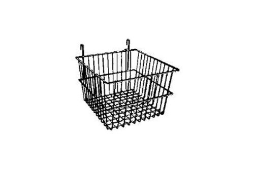12'' x 12'' x 8''H Deep Gridwall Basket Chrome 3 Pcs - Work For Grid Panels by The Competitive Store