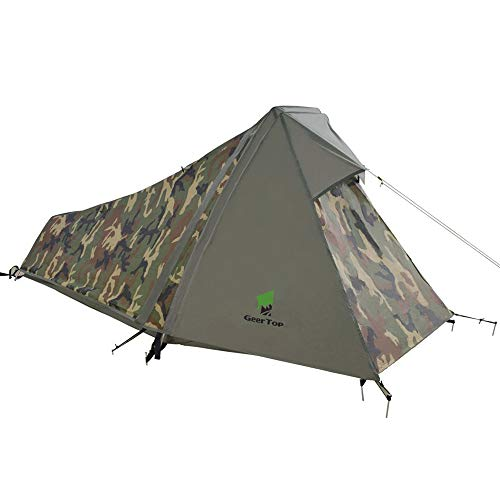 Geertop 1 Person 3-4 Season Lightweight Backpacking Bivy Tent for Camping Hiking