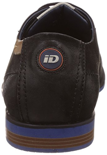Id Mens Lederen Sneakers Zwart