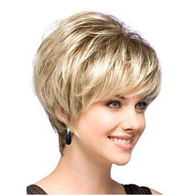 GOOD AND GOOD- Pelucas @ corta dama de la moda peluca rubia pelo perfecto clásica
