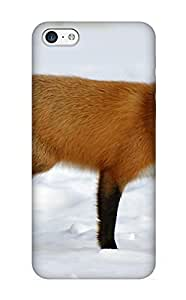 GQYUXH-4642-BPLtt Tough Iphone 5c Case Cover/ Case For Iphone 5c(Animal Fox) / New Year's Day's Gift