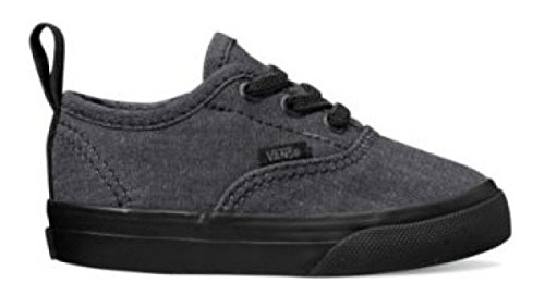 Vans Toddler Authentic Elastic Lace (Mono Chambray) Black/Black VN0A38E8OFY Toddler Size 2.5