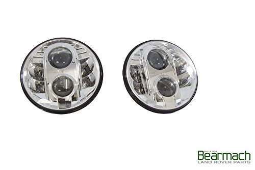 "LAND ROVER DEFENDER ALL/SERIES ALL/CLASSIC MODELS 7"" LED UPGRADE LAMPS KIT PART: BA070LED / BA 070LED"
