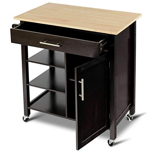 Pastel Kitchen Island Cart Trolley Storage Rolling Utility 3 Tier Wood Organizer Dining Cabinet Shelf