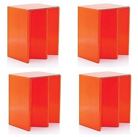 4 Pack de Plegable cartón portátil asiento sillas NARANJA ...