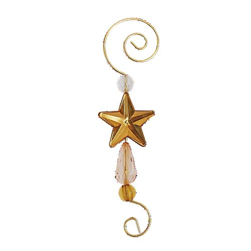 Decorative Christmas Ornament Hooks (Star Hooks, Set of 12)