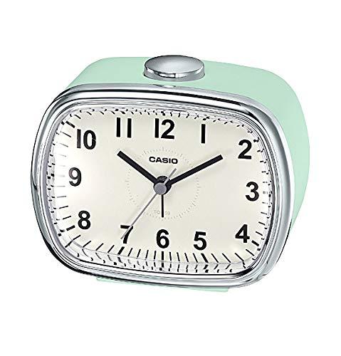 CASIO (카시오) 탁상 시계 복고풍 레트로 그린 9.1 × 10.9 × 6.2cm 복고풍 컬러 TQ-159-3JF