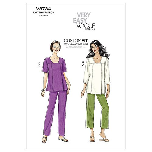 Vogue Patterns V8734 Misses' Tunic and Pants, Size ZZ (LRGXLGXXL)