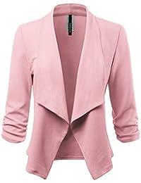 Women's Stretch 3/4 Open Blazer Cardigan Jacket