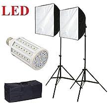 CanadianStudio Pro rapid softbox Continuous LED Lighting Photo Softbox Fluorecent Video lighting Kit 2 x softbox 2x 20 watt 5500K LED light bulbs 2x 7' fully adjustable stands- Free Shipping