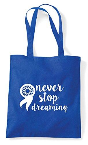 Never Dreamcatcher Statement Stop Bag Blue Tote Dreaming Royal Shopper wr1xA