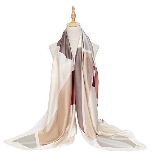 - Bellonesc Women Scarves Fashion Lightweight Sunscreen 100% Silk Scarfs for Women
