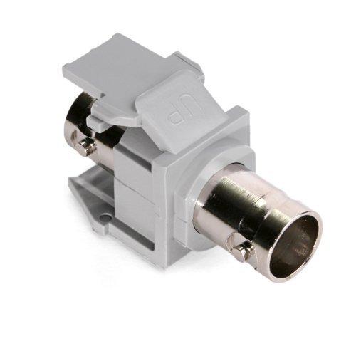 Leviton 41084-BGF BNC QuickPort Adapter, Nickel-Plated, Grey