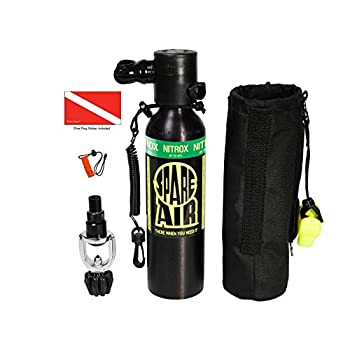 Image of Diving Tanks Submersible Systems Spare Air, 6.0 cu. ft. Nitrox Package w/Optional Dial Guage 600PK-N-DG and DiveCatalog's Accessories