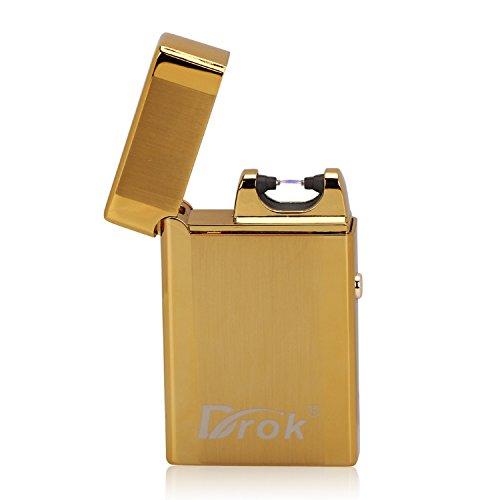 DROK® Elektronische Zigarettenanzünder Wiederaufladbare flammenlose Zigarettenanzünder Windproof Mini-Tasche Zündung Feuerzeug kein Gas mit USB-Ladekabel für Weihnachten / Geburtstagsgeschenk usw.