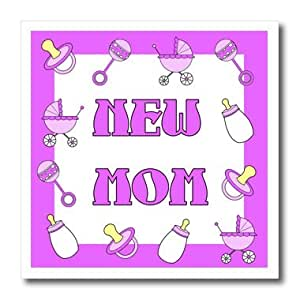 ht_12124_3 Janna Salak Designs Baby - New Mom Gifts Purple Baby Girl - Iron on Heat Transfers - 10x10 Iron on Heat Transfer for White Material