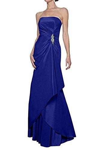 Bolero Brautmutterkleider Blau Etuikleider Ballkleider mit mia Partykleider Festlichkleider Braut Einfach Lang Abendkleider Langarm La Royal TqP7a