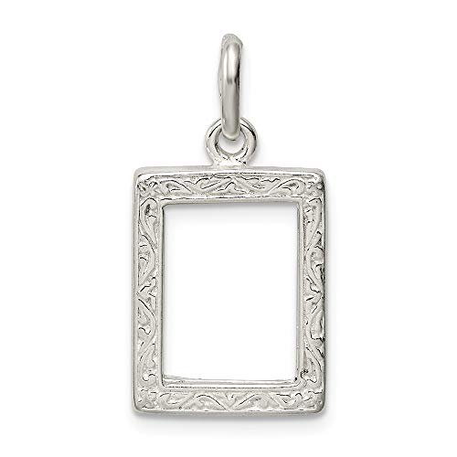 (925 Sterling Silver Picture Frame Pendant Charm Necklace Photo Fine Jewelry Gifts For Women For Her)