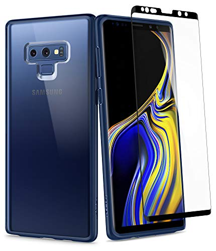 Spigen Ultra Hybrid 360 Galaxy Note 9 Case with 360 Full Body Coverage Protection with Tempered Glass Screen Protector for Samsung Galaxy Note 9 (2018) - Blue ()