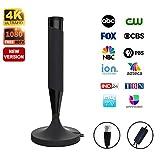 Best Indoor Digital Antennas - antess Amplified HD Digital Indoor Smart TV Antenna Review