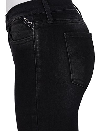 Black Joi para 98 Skinny Ankle Denim Negro REPLAY Vaqueros Zip Mujer 6xnPP8dS
