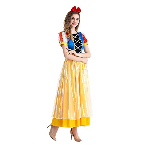 Halloween Costume Snow White Devon Q Rebel Elegant Cute Adult Cosplay Christmas Ball Dress (Small)