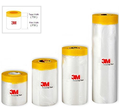 3M Drape Pre-Taped Masking Film, Painting Protection Covering Film (65.6 Feet) (59.1 In) 3m Painting Paint