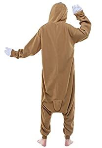 Newcosplay Unisex Aduit Sloth Pajamas- Plush One Piece Cosplay Animal Costume