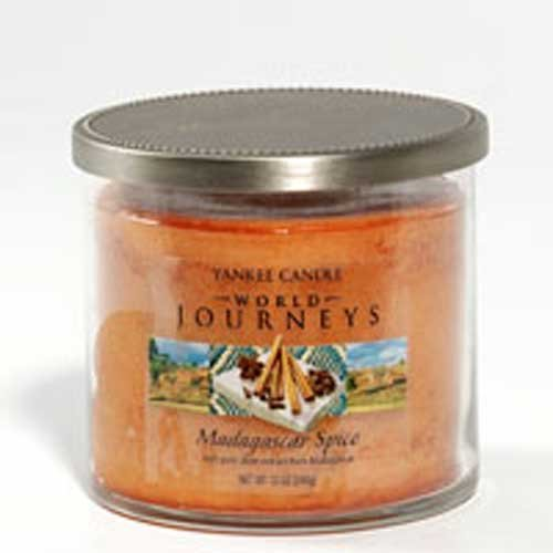 Yankee Candle World Journeys 12 oz 2 Wick Medium Tumbler Candle MADAGASCAR SPICE - Retired Scent