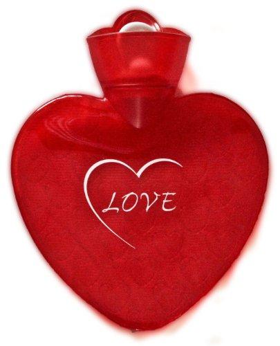 heart shaped hot water bottle - 5