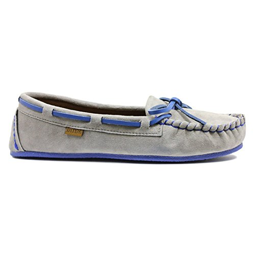 Dije California Women's Brittany Moccasin,Grey Suede,US 8 M