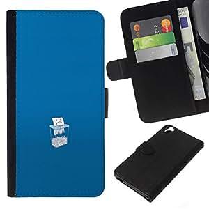 All Phone Most Case / Oferta Especial Cáscara Funda de cuero Monedero Cubierta de proteccion Caso / Wallet Case for HTC Desire 820 // Save Paper