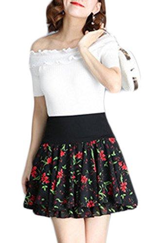 Les Femmes sous La Jupe De Mousseline Patineuse De Floral, Taille Haute, Jupes Tutu 4