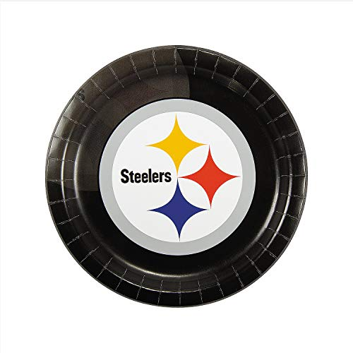 Fun Express - Nfl Pittsburgh Steelers Dinner Plates for Party - Party Supplies - Licensed Tableware - Licensed Plates & Bowls - Party - 8 ()