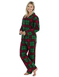 PajamaMania Women's Sleepwear Flannel Long Sleeve Pajama Set